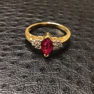 Vintage Diamond/Ruby Ring sz5.5